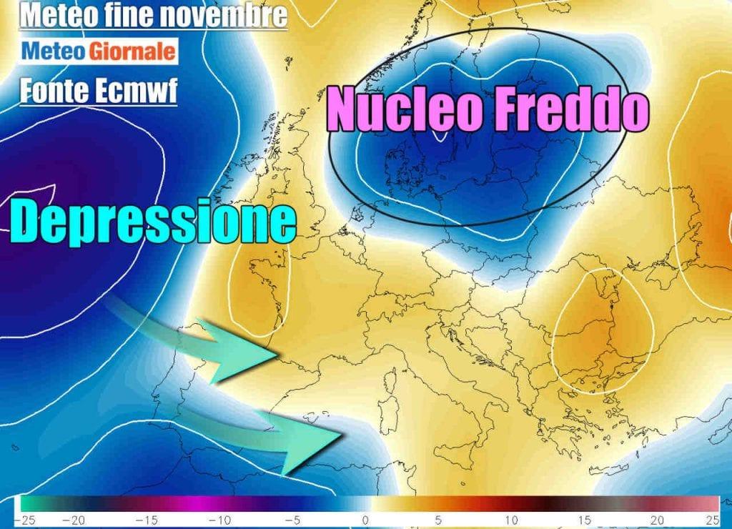 Meteo, le previsioni di venerdì 4 dicembre