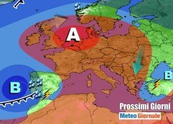 Anticiclone atteso sull'Italia e su oltre mezza Europa