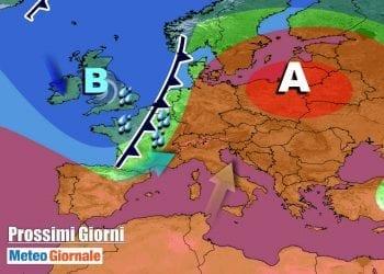 Evoluzione meteo nel corso della settimana