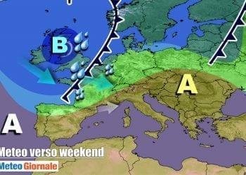 Evoluzione meteo verso il fine settimana