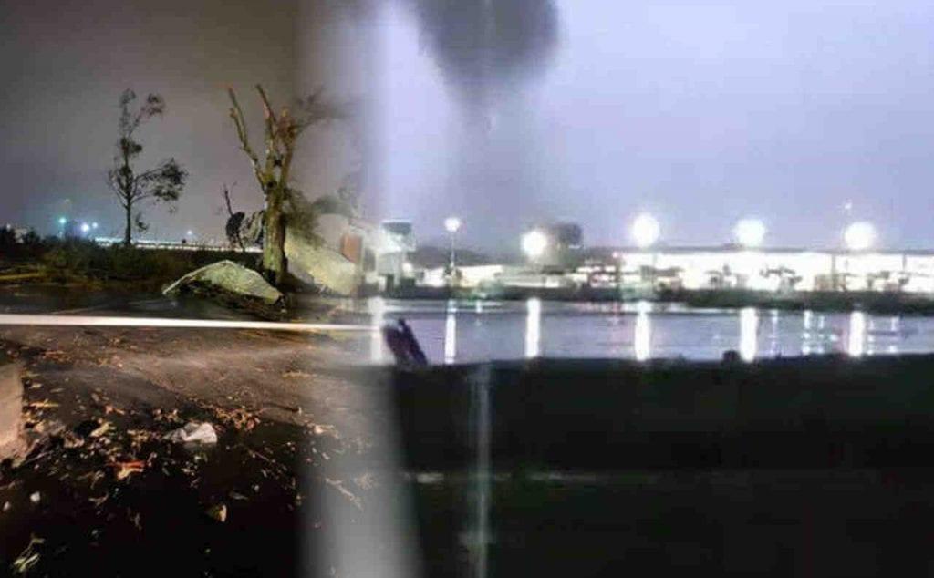 TORNADO distruttivo si abbatte su Catania. Il video