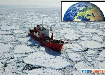 Vortice Polare e banchisa artica.