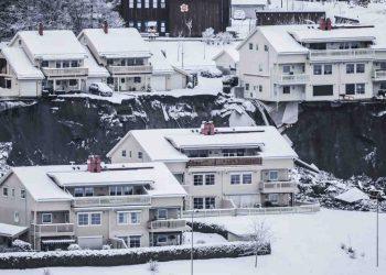 Gjerdum, il paese interessato dal disastro franoso