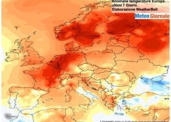 Caldo in tutta Europa negli ultimi giorni