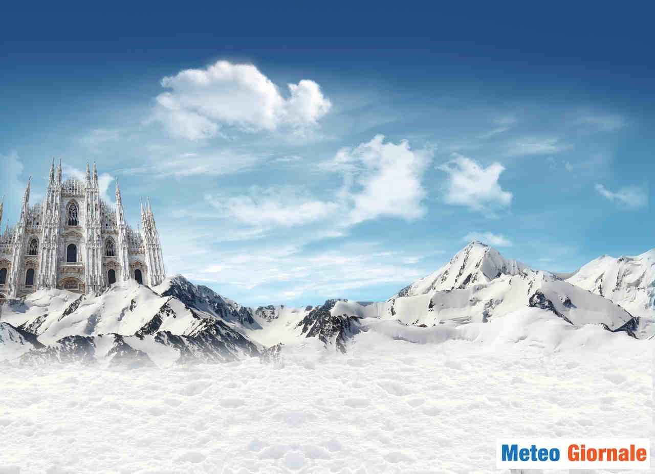 Milano, la neve in città, non solo in montagna.