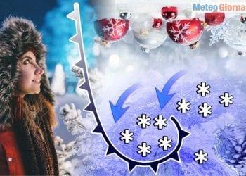 Meteo con neve forte su Italia del Nord già da Natale.