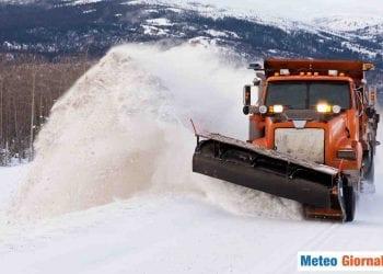 Neve a vagonate in alta montagna