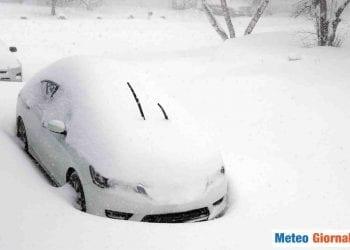 Forte neve nel Nord Italia.