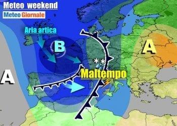 Meteo avverso sull'Italia anche nei prossimi giorni