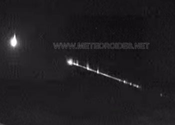 Meteora luminosa sul Mar Mediterraneo (2 dicembre)