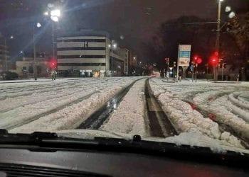Situazione della sera di Natale a Modena, via Cialdini.