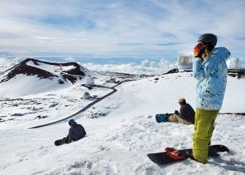 Sport invernali nelle Hawaii. Credit foto Weatherboy.