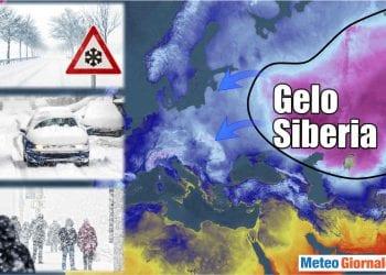 Gelo Siberia molto esteso.