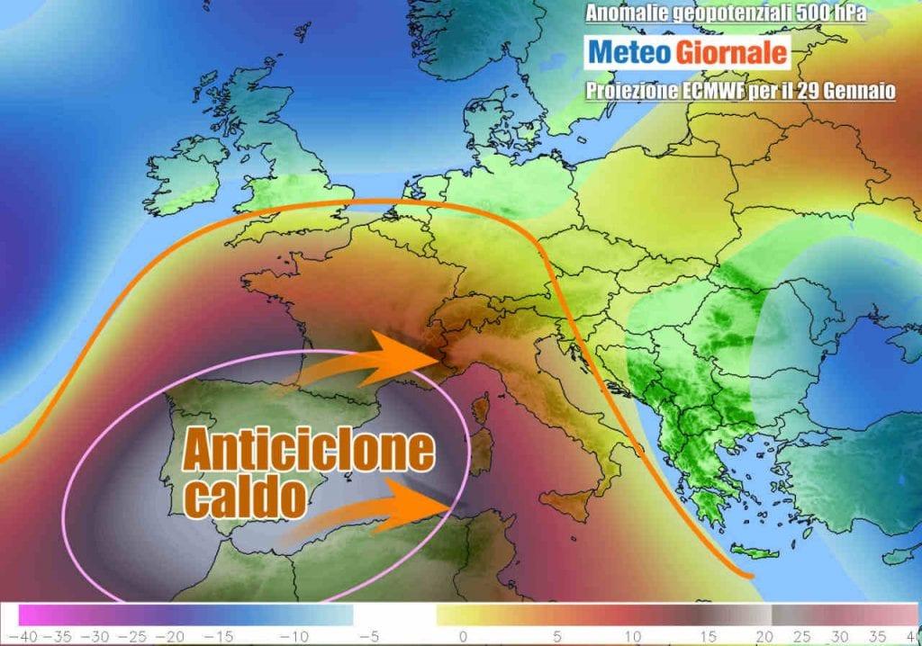 Potente Alta Pressione mitissima nei Giorni della Merla, quelli Freddi, per intenderci