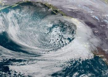 Tempesta invernale vista dal Meteosat.