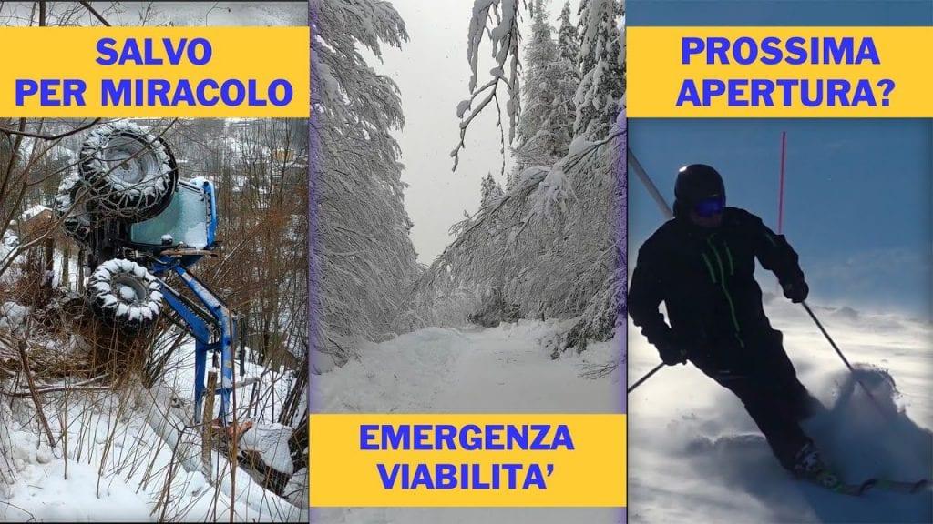 La gravità delle nevicate sull'Abetone. Video meteo news professionale