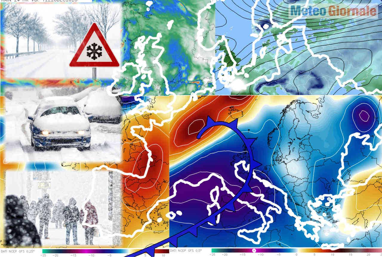 Sbalzi termici imponenti sull'Italia