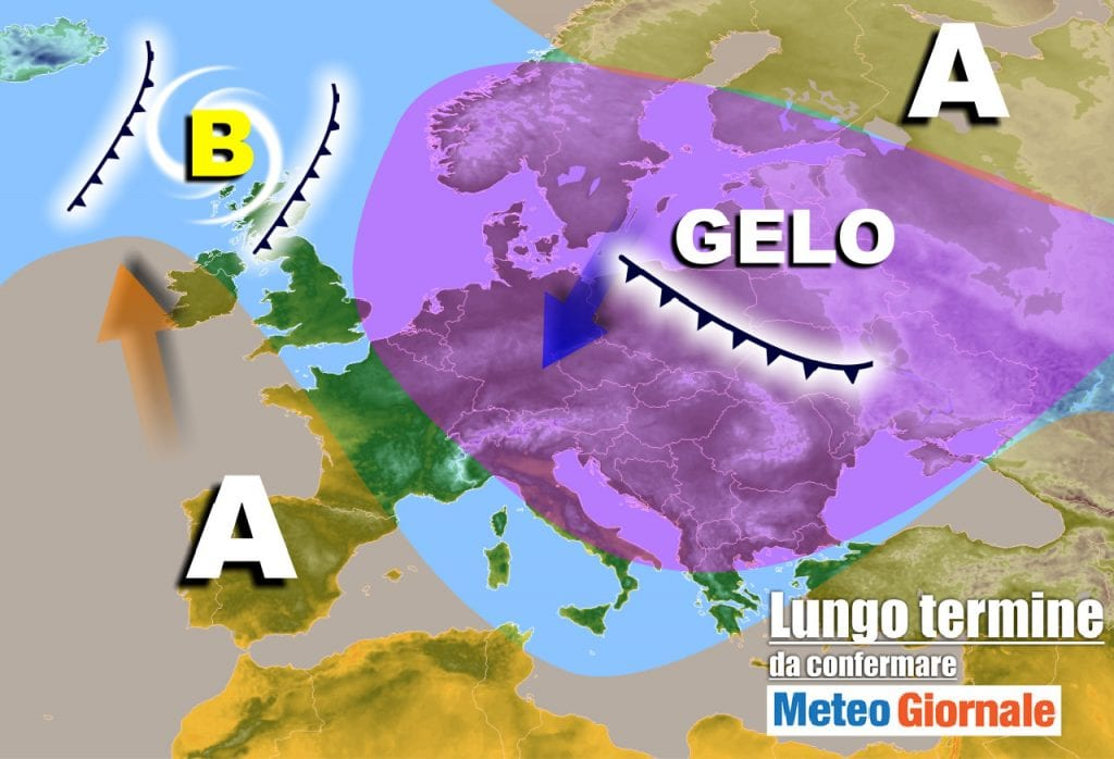 Meteo Italia al 5 febbraio    grandi manovre    l'Inverno c'è