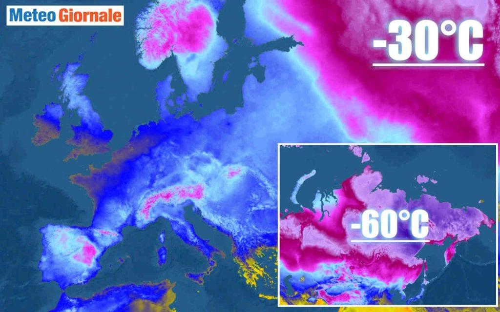 GELO siderale in Siberia, le ripercussioni meteo in Europa