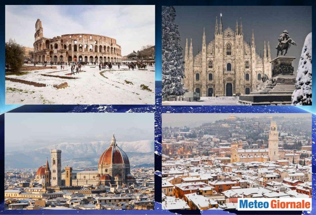 Neve Italia, le previsioni. Nevicate in pianura al Nord. Altri fiocchi al Centro e Sud. Meteo 10 giorni