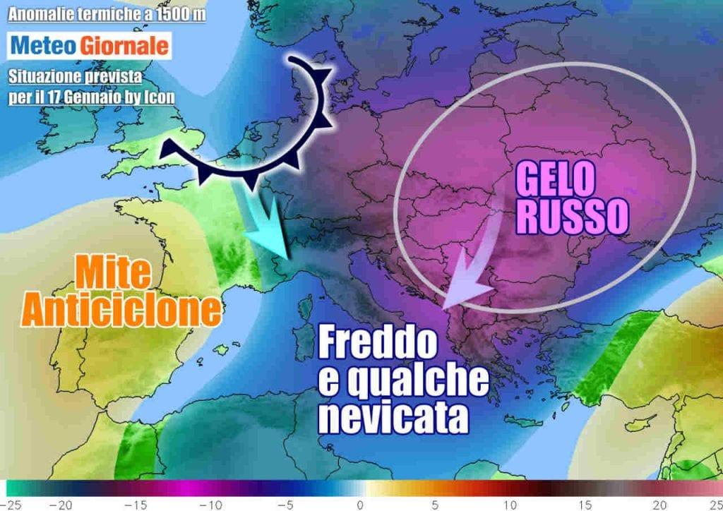 METEO Italia  INVERNO con FREDDO dai Balcani e neve  Ecco tutti i dettagli