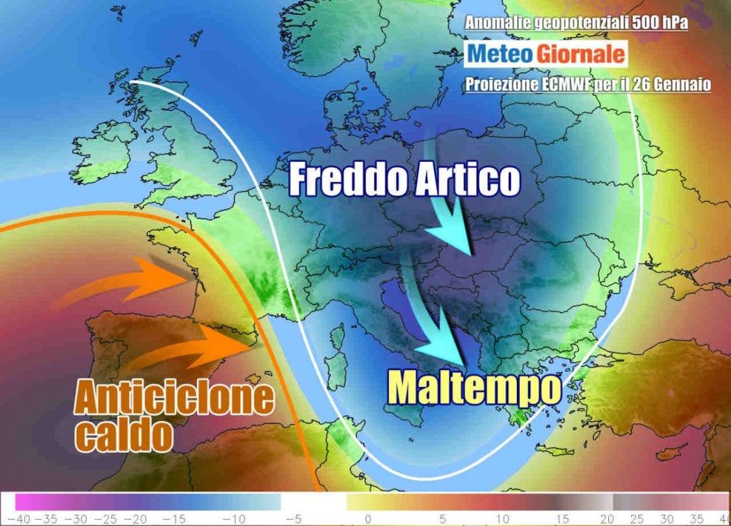 METEO Italia. Ciclone con maltempo, ma freddo in arrivo ad inizio settimana