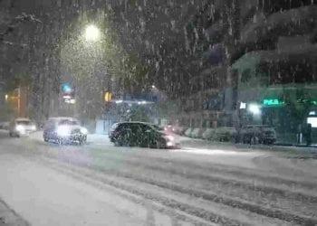 Copiosa nevicata su Cosenza