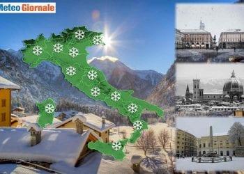 La neve in Italia, previsioni meteo.