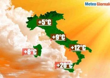 Temperature massime Italia.