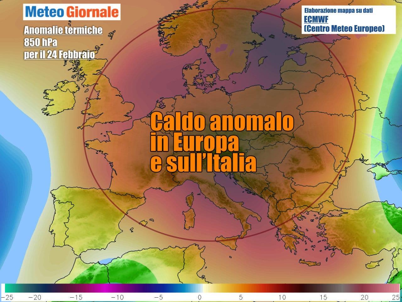 In gran parte d'Europa temperature ben sopra media nel corso della settimana