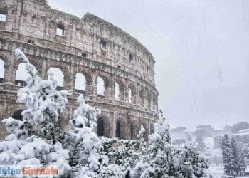 Roma sotto la neve, scenario accaduto più volte nel decennio dal 2010