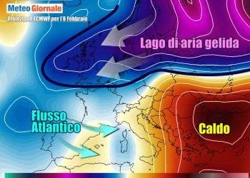 Evoluzione meteo fra weekend e inizio prossima settimana, con il gran freddo che scorrerà sul Nord Europa