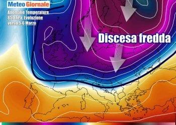 Ritorno del freddo e del gelo in Europa e poi sull'Italia nella prossima settimana