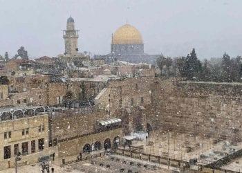 Neve caduta su Gerusalemme