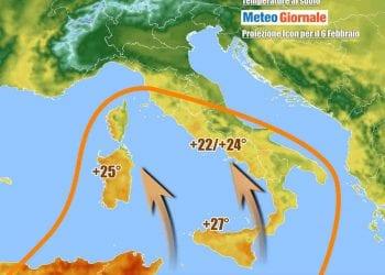 Il clima caldo sino al weekend soprattutto tra Sud ed Isole