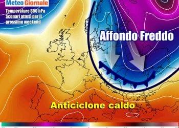 Aria più fredda lambirà l'Italia dal weekend, con stop al caldo anomalo