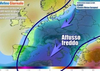 Ancora aria fredda da nord-est nei primi giorni della prossima settimana