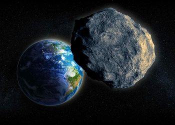 Rappresentazione di un sasso spaziale pericoloso
