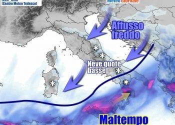 Le condizioni meteo previste per domenica 21 Marzo
