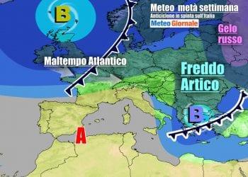 Evoluzione meteo attesa tra mercoledì 10 e giovedì 11 Marzo