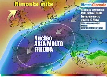 Lo scenario meteo atteso a ridosso del weekend