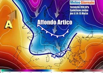 Il raffreddamento atteso sull'Italia tra domenica e lunedì, ma sarà solo il preludio ad una fase ancora più invernale