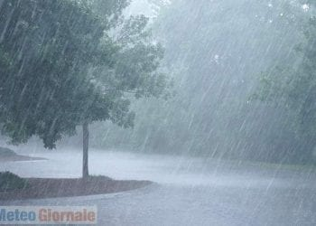 Immagine di pioggia battente