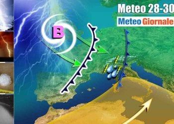 Perturbazioni dirette verso Nord e a tratti Centro Italia ancora nei prossimi giorni