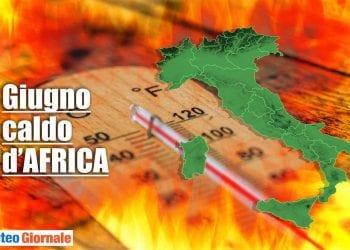 meteo giugno caldo africano