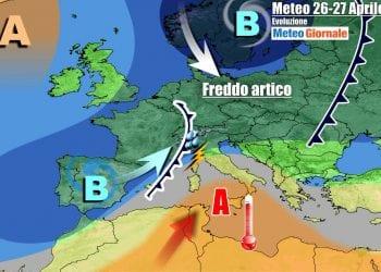 Evoluzione meteo primi giorni settimana