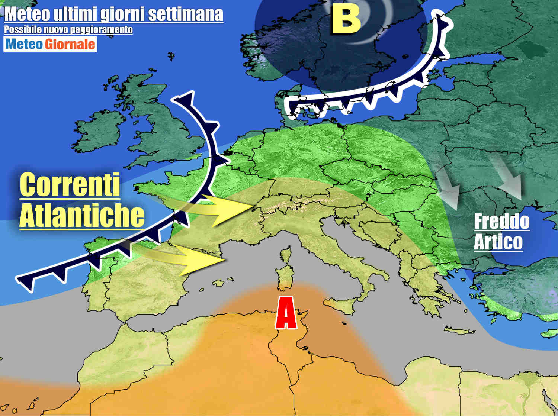Anticiclone sull'Italia giovedì e venerdì, ma potrebbe poi seguire un peggioramento