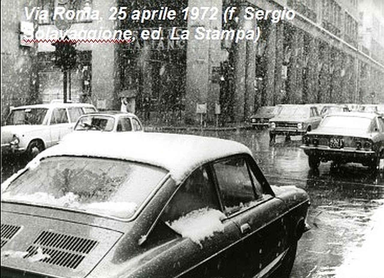 La neve a Torino del 25 aprile 1972.
