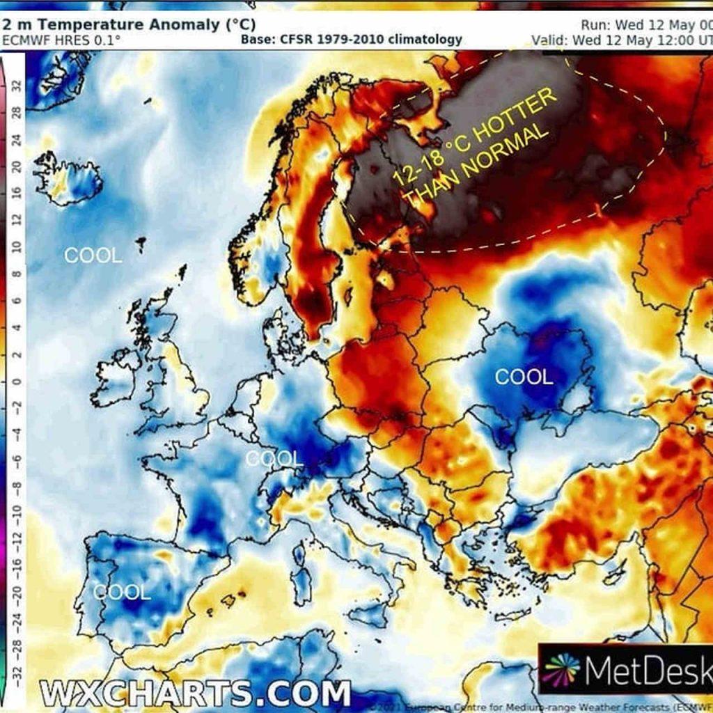 Anomalo meteo di primavera. In Finlandia è CALDO RECORD per maggio