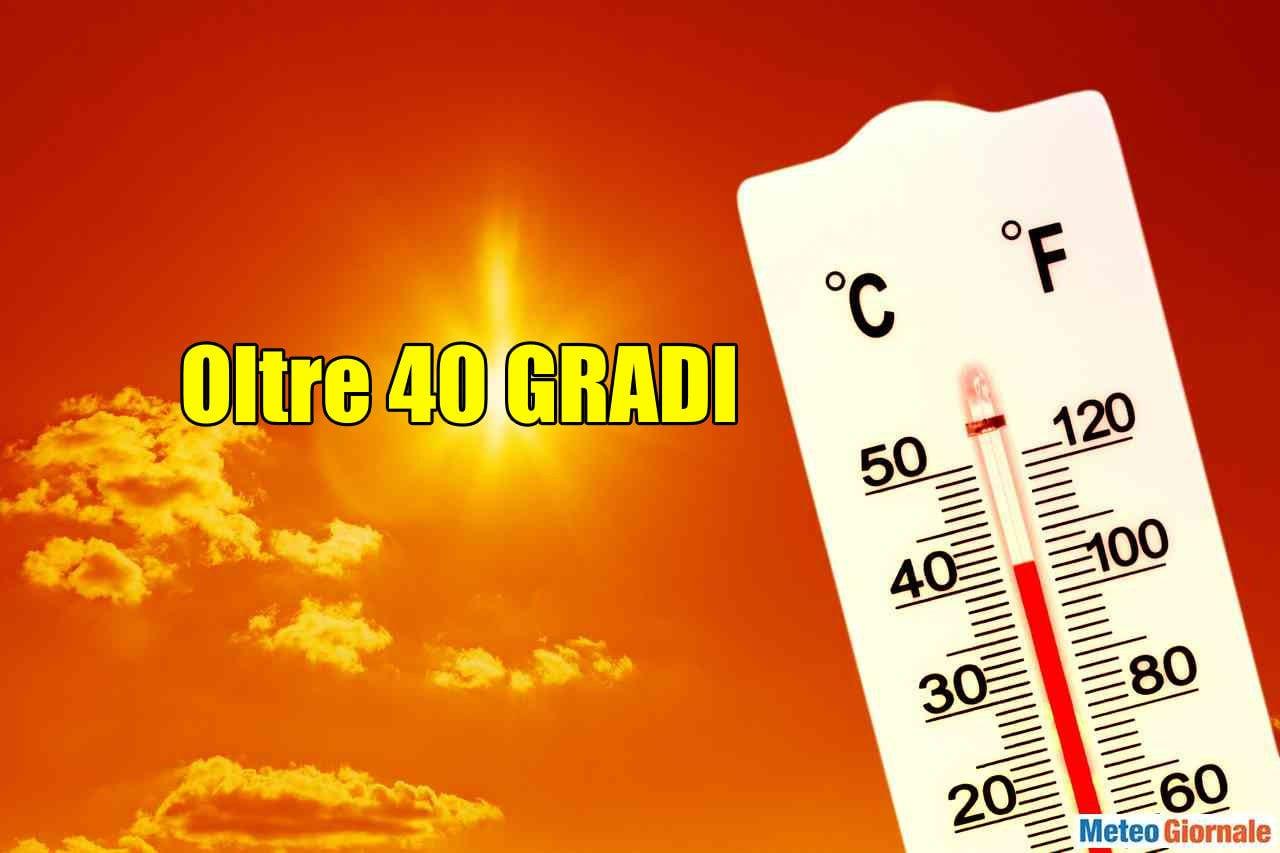 Colonnina di mercurio sopra i 40 gradi. Succedeva già in questi stessi giorni nel 2015